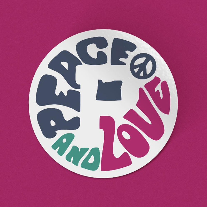 Peace & Love Sticker