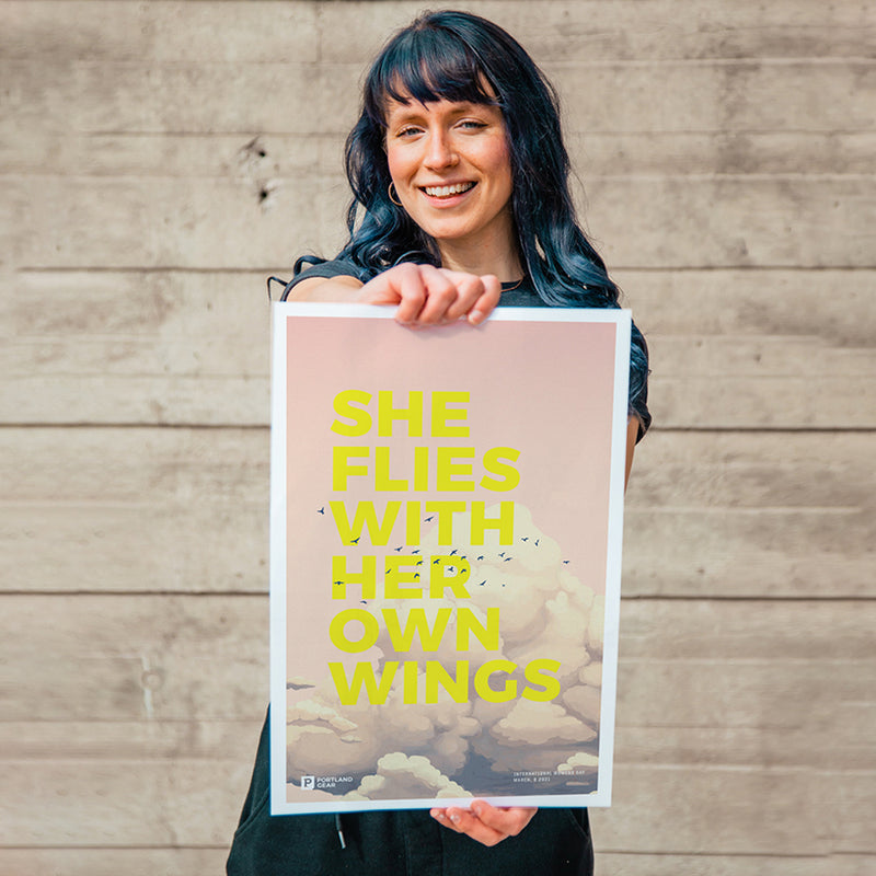 She Flies Poster Print