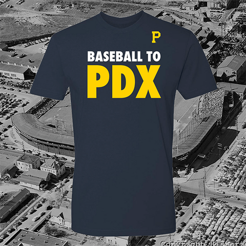 Baseball to PDX T-Shirt - Portland Gear