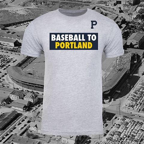 Baseball to Portland Sticker Tee (PRE-ORDER) - Portland Gear