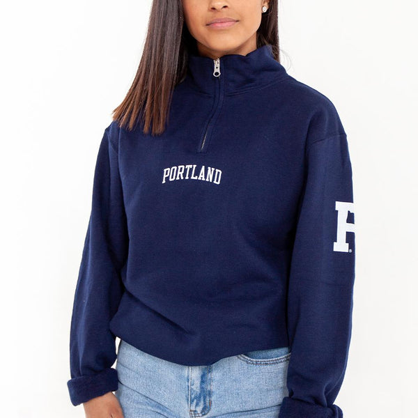 Navy Quarter Zip - Portland Gear