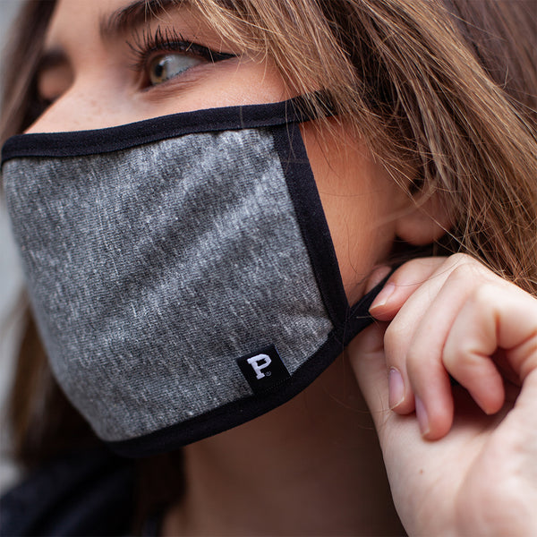 Grey Simple Face Mask - Made in PDX