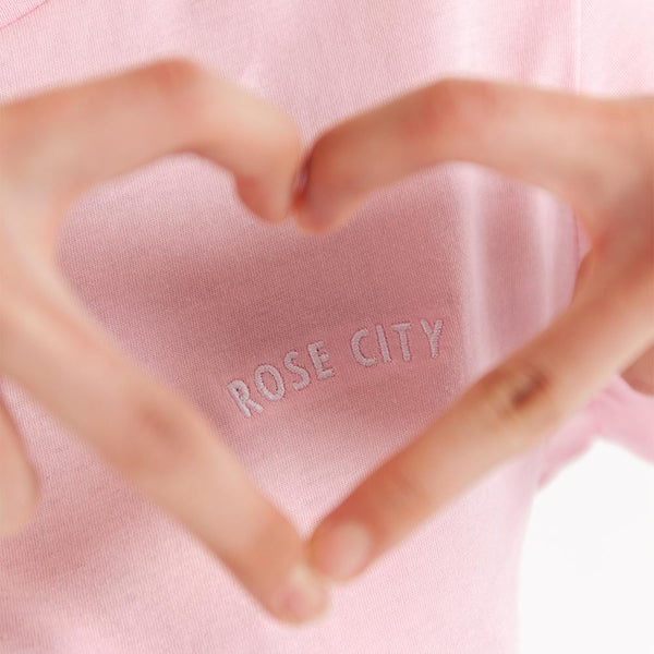 Women's City of Roses Embroidered Tee