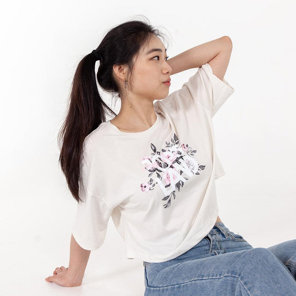 Summer of Roses Cropped Tee