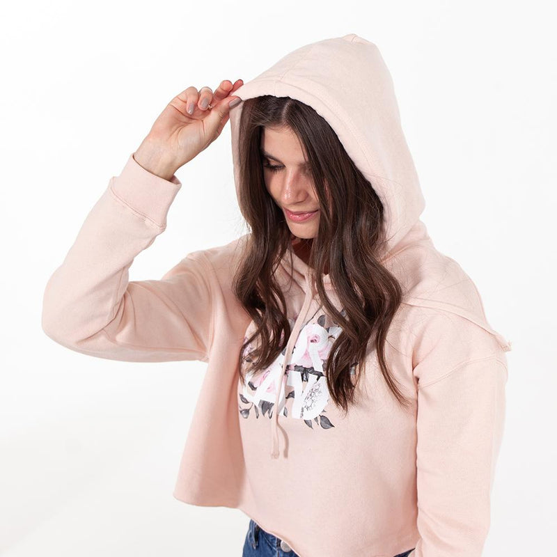 Women's Summer of Roses Crop Hoodie