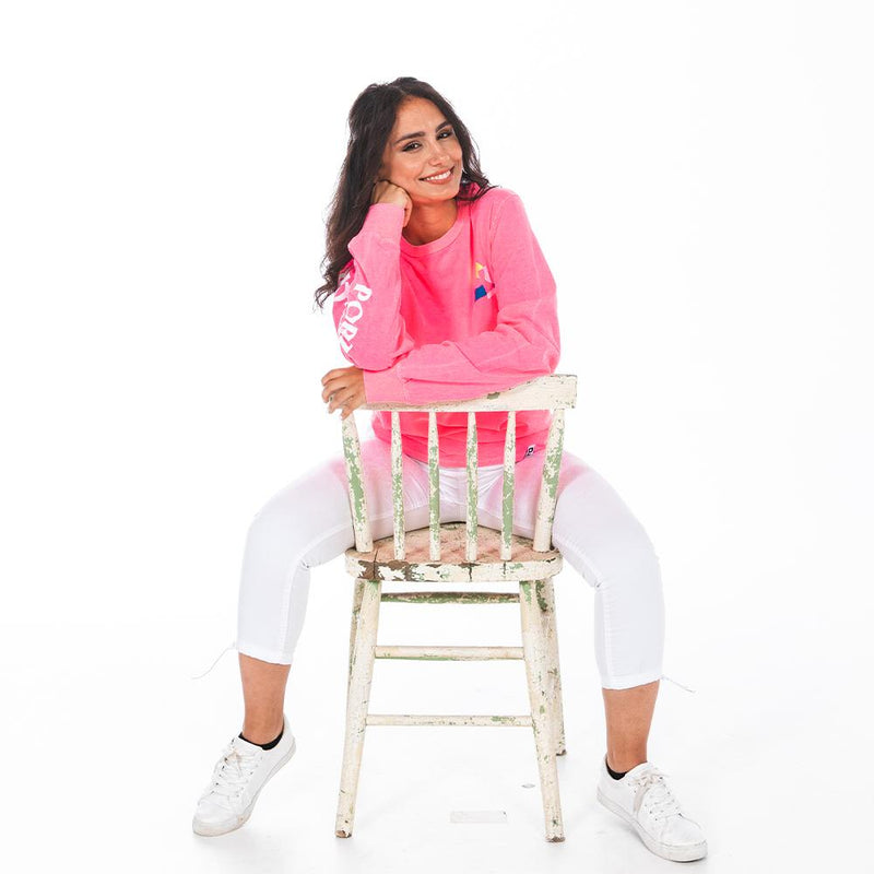 Neon Pink Trifecta Long Sleeve - Portland Gear