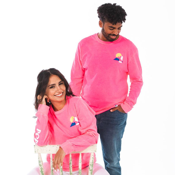 Neon Pink Trifecta Long Sleeve