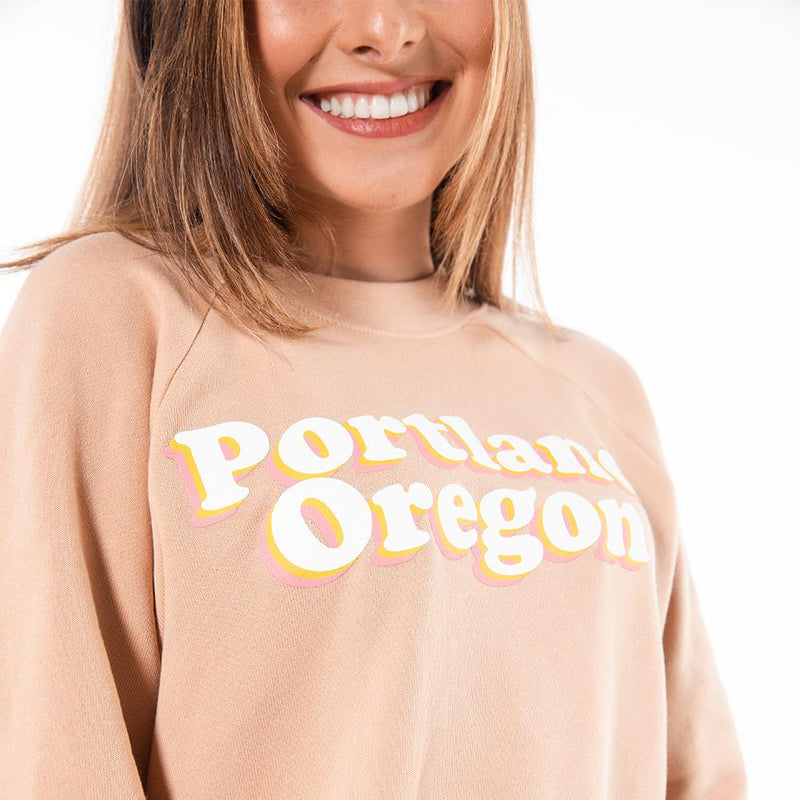Retro Crop Crewneck - Portland Gear