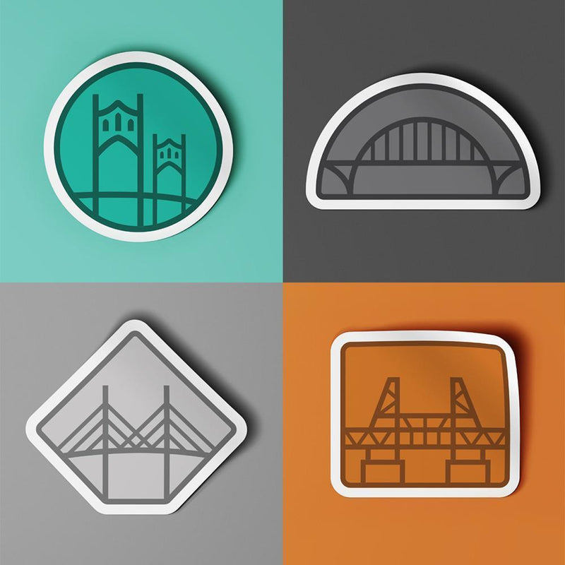 Bridge City Sticker Pack - Portland Gear
