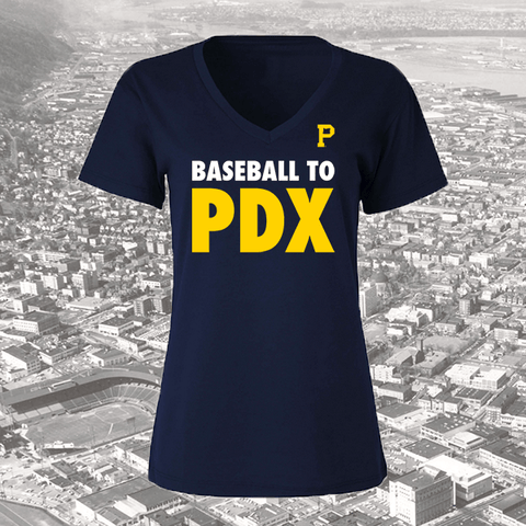 Women's Baseball PDX T-Shirt - Portland Gear