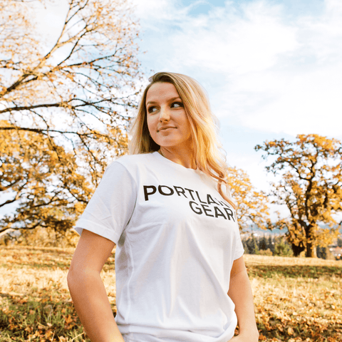 White Registered Logo Tee - Portland Gear
