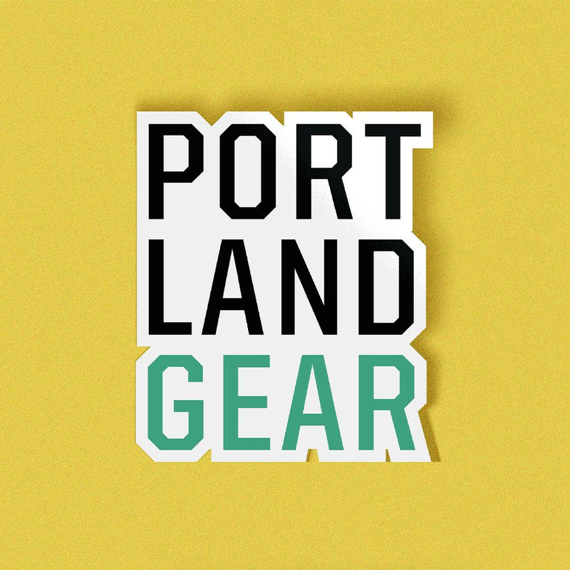 Tiered Logo Sticker - Portland Gear