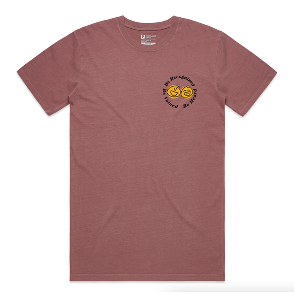 "The ""BE"" Tee - Men's Faded Wine"