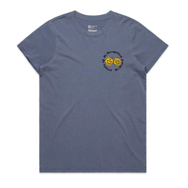 "The ""BE"" Tee - Women's Faded Blue"