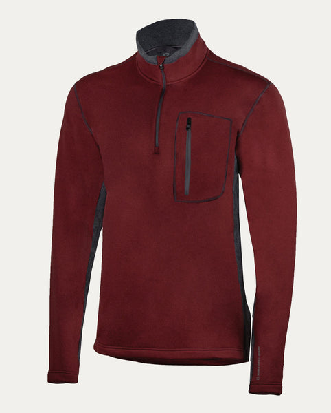 Fortitude Quarter Zip Burgundy