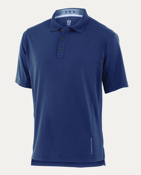 Coolflo Performance Polo in Deep Water Blue