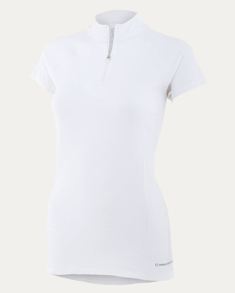 Gwen Short Sleeve Performance Mock in White