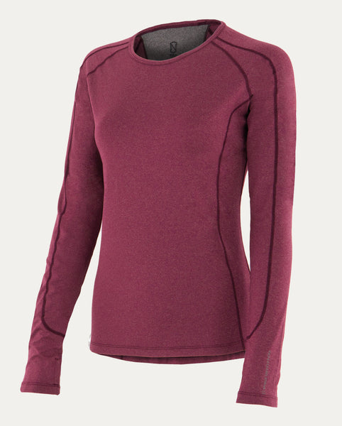 Hailey Long Sleeve Crew in Violet Coral Heather