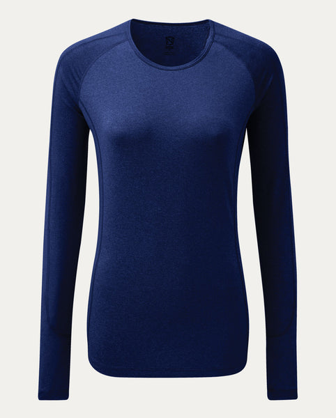 Hailey Long Sleeve Crew in Navy