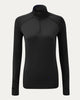 Lauren 1/4 Zip Mock in Black