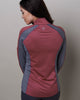 Lauren 1/4 Zip Mock in Violet Coral Heather