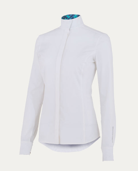 Madison Show Shirt in White / Mint Geo