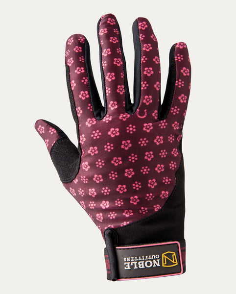 Perfect Fit Glove in Wine Daisy Print