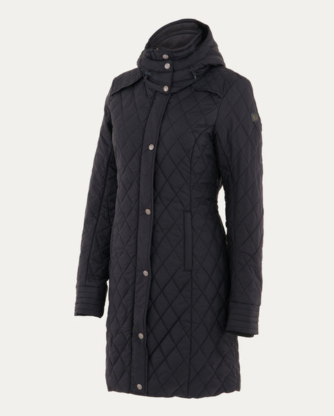 Warmup Quilted Coat in Black