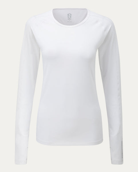 Hailey Long Sleeve Crew in White