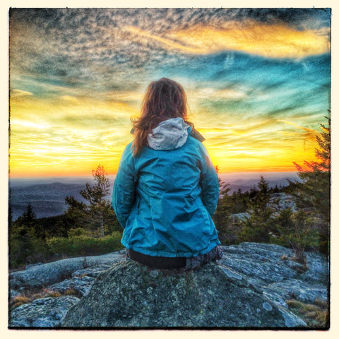 Sunset viewing atop Wachusett Mountain after an afternoon hike (photo credit: Chris Gagne)