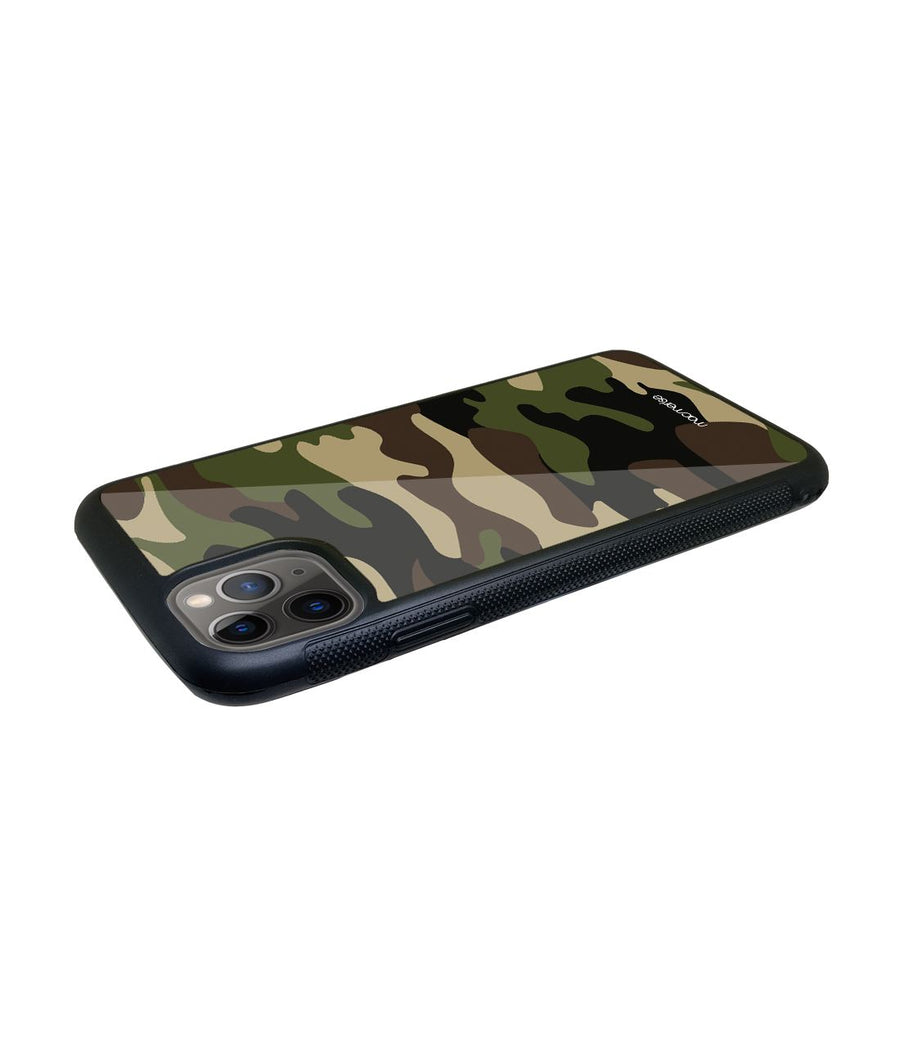 Camo Military - Glass Case for iPhone 11 Pro Max