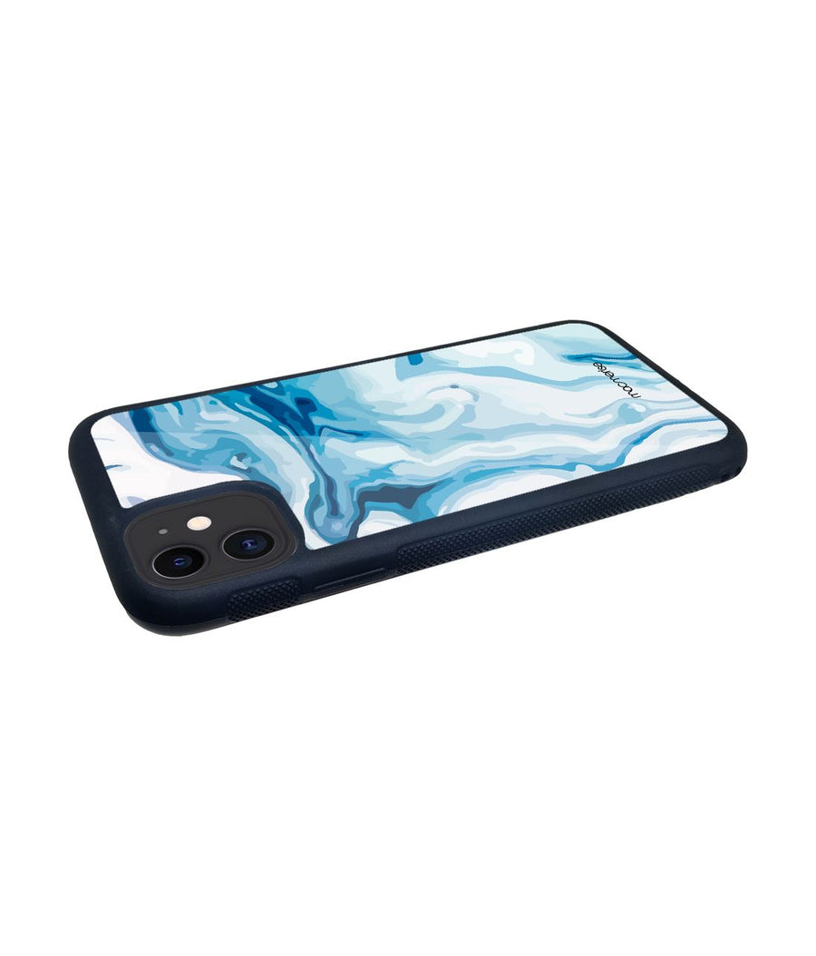 Liquid Funk Turquoise - Glass Case for iPhone 11