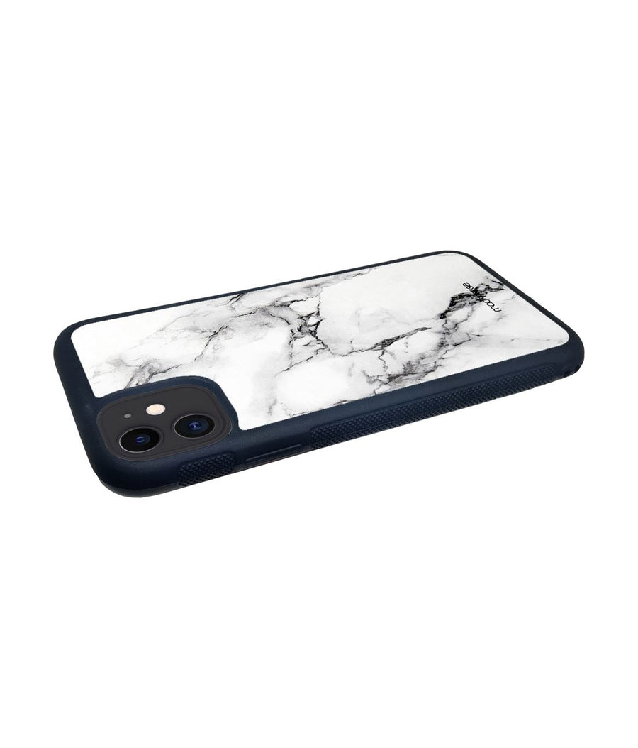 Marble White Luna - Glass Case for iPhone 11