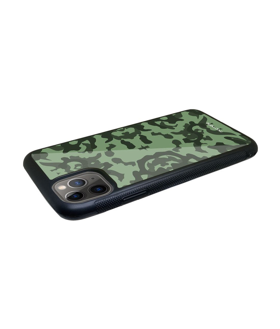 Military Green - Glass Case for iPhone 11 Pro Max