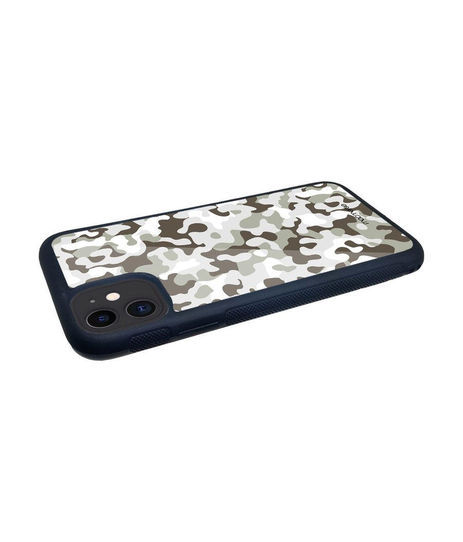 Military Grey - Glass Case for iPhone 11