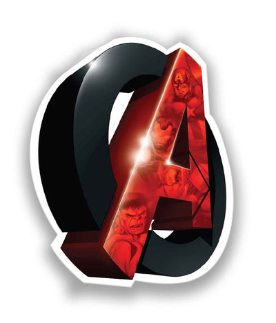Avengers Logo 3D - Stickon Small