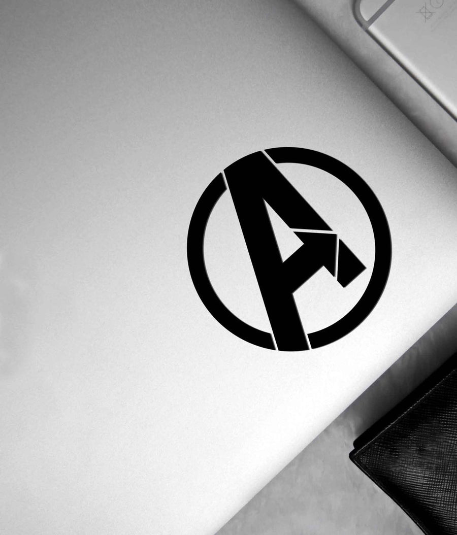 Avengers Logo Black - Stickon Small