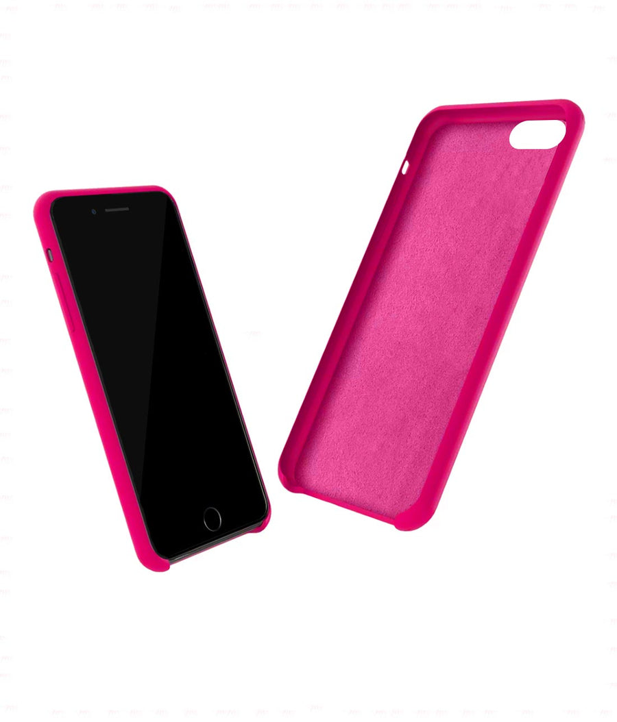 Silicone Case Fuschia Pink - Liquid Silicone Case for iPhone 7 Plus