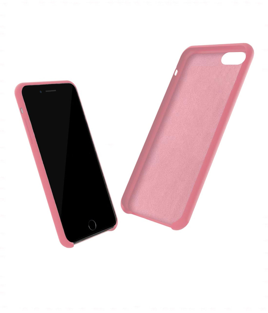 Silicone Case Blush Pink - Liquid Silicone Case for iPhone 8