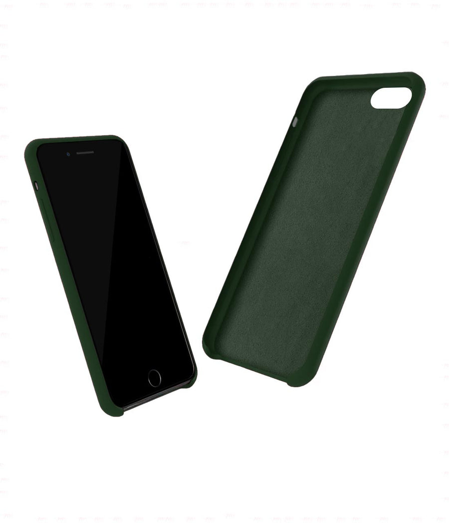 Silicone Case Olive Green - Liquid Silicone Case for iPhone 8