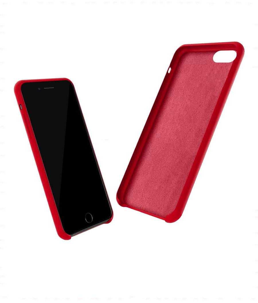 Silicone Case Red - Liquid Silicone Case for iPhone 8