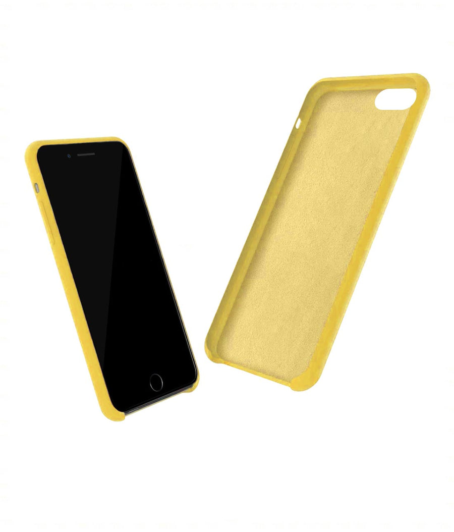 Silicone Case Yellow - Liquid Silicone Case for iPhone 8