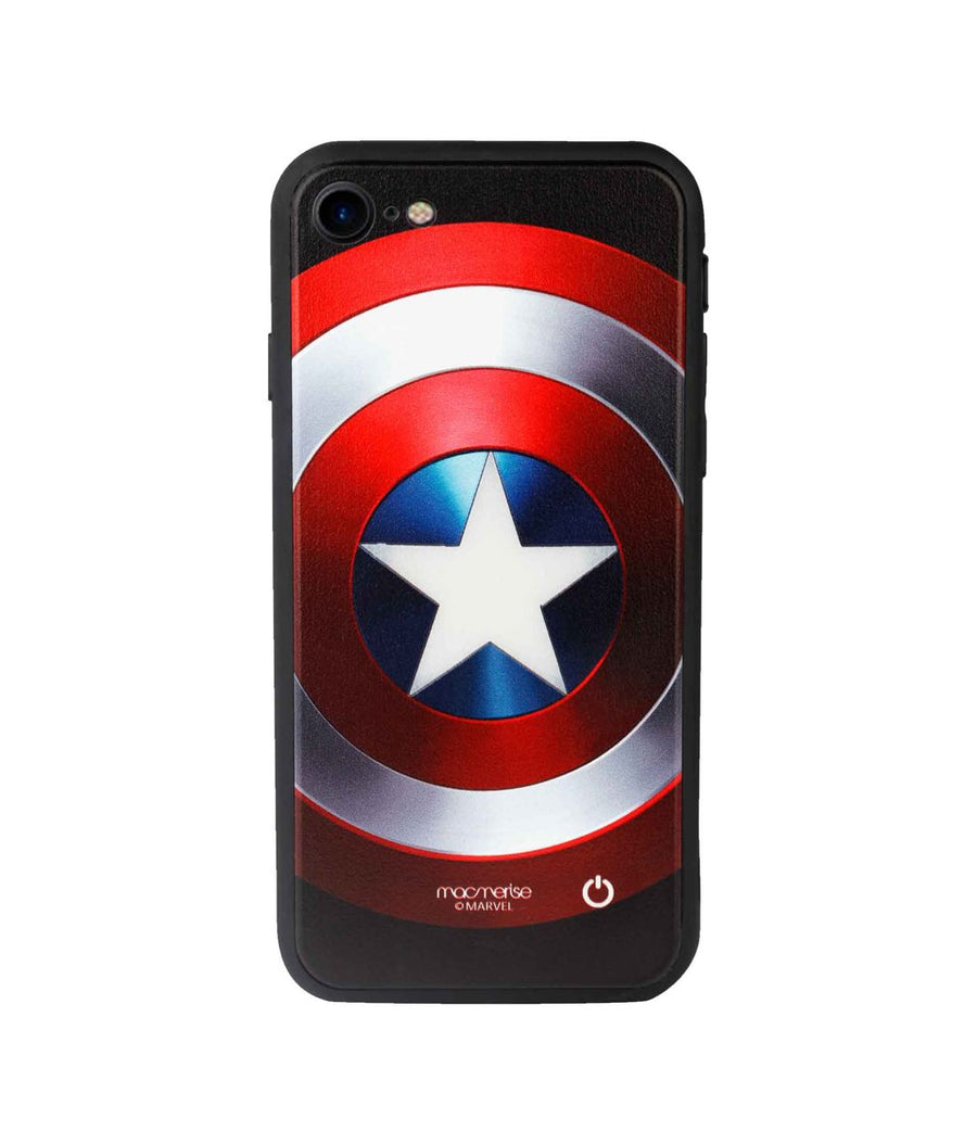 Classic Captains Shield  - Lumous LED Case for iPhone 8