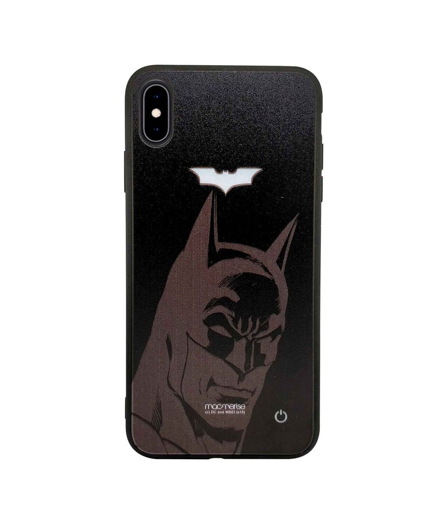 Silhouette Batman - Lumous LED Case for iPhone XS Max