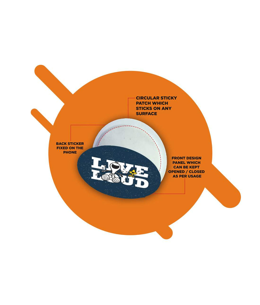 Live Loud Blue - Macmerise Sticky Pad