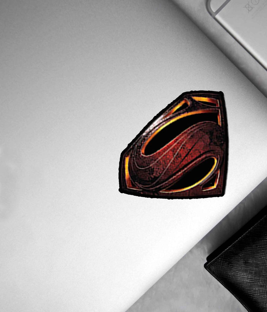 Metallic Superman Logo - Stickon Small
