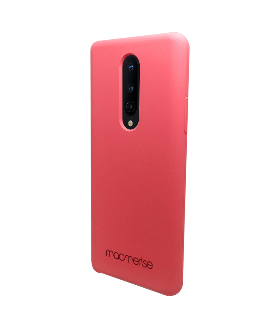 Silicone Case Coral Pink - Liquid Silicone Case for OnePlus 8