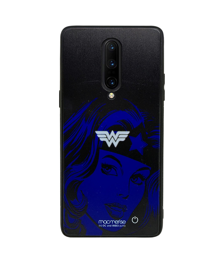 Silhouette Wonder Woman - Lumous LED Case for OnePlus 8