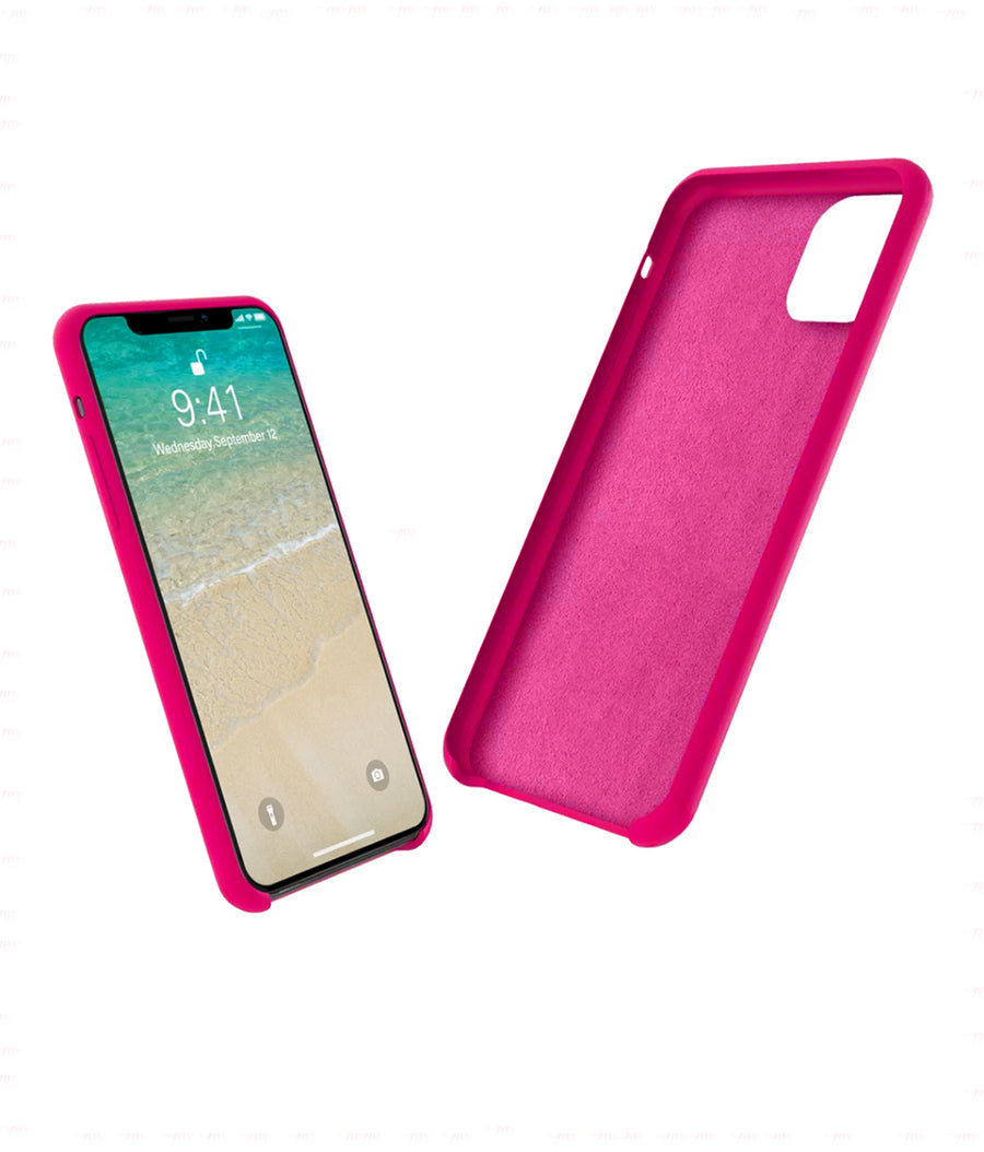 Silicone Case Fuschia Pink - Liquid Silicon Case for iPhone 11