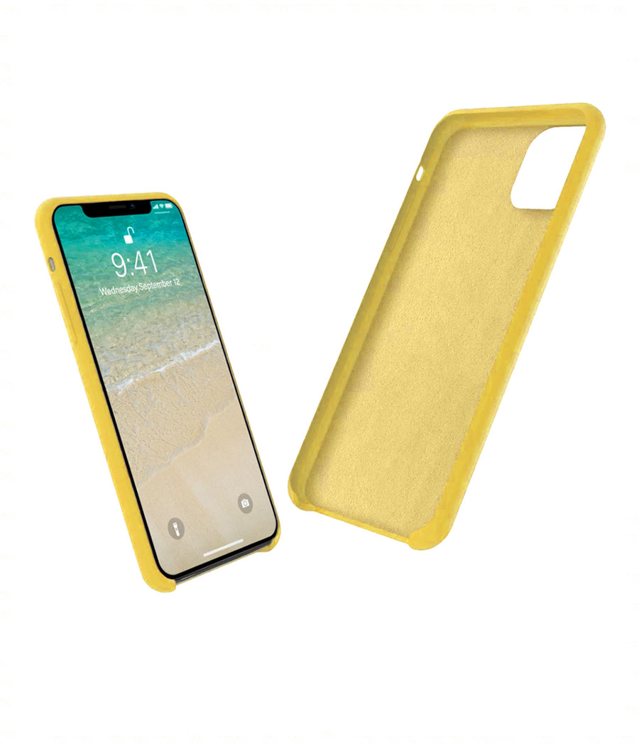 Silicone Case Yellow - Liquid Silicon Case for iPhone 11